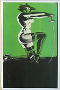 Supergirls Semi Nude Green Hornet / Fencing Babe Pinup Poster Steranko