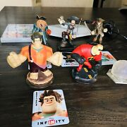 Disney Infinity Lot Ps3 Video Game Infinity Base 6 Characters Jack Sparrow