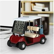 10l0l Newest Version Lcd Display Mini Golf Cart Clock For Fans Great Gift Race