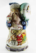 Great Santa Claus Father Frost Ded Moroz Wooden Carved Hand Painted Big 31