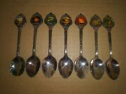 7 Vintage Hawaii Silverplate Collector Spoons New Zealand