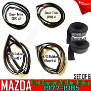 For Mazda B1600 Ford Courier 1977-85 Front Rear Door Weatherstrip And Run Channel