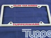 Vintage Tupperware Hostess Advertising License Plate Holder Excellent Condition