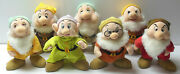 Disney Store Snow White And The Seven Dwarfs 11 Plush Standing Doll Complete Set