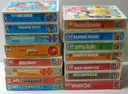 Vintage Disney Looney Tunes Peanuts Rocky And Bullwinkle Jigsaw Puzzle Lot Whitman