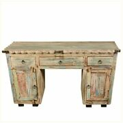 Reclaimed Wood Study Desk Table For Home And Office Furniture