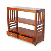 Wood Console Table With 2 Drawers Antique Vintage Home Office Furniture Decor
