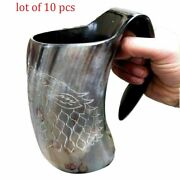 Wolf Viking Designed Drinking 6 Mug Chalice For Beer Wine Lots Of 2 Piece