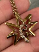 And Co. Paloma Picasso Diamond Sun Moon 18k Yellow Gold Pendant Necklace