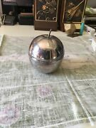 Vintage Silverplate Apple Bowl Dish Reed And Barton 287 Red Enamel