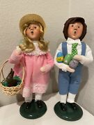 Byers Choice The Carolers Retired Easter Girl And Boy Both 2015