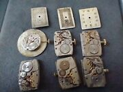 Lot Of Longines And Wittnauer Movements, Dials For Parts And Repairs, 9l And 528