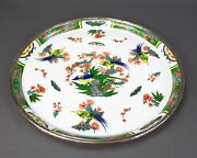 Limoges Tetard Edite A. Raynaud French Porcelain And Sterling Silver Platter