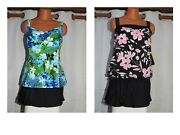 Sale Nwt Miraclesuit All Over Slimming Tankini Top And Skirt Swimsuit Plus 20w 22w