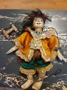 Beautiful Wood Vintage Marionette String Puppet Tribal Woman Indian Indonesian
