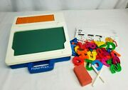 Vintage 1991 Fisher Price School Days Play Desk 2030 W Magnetic Letters