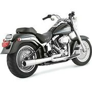 Vance And Hines 17547 Chrome Pro Pipe 2-into-1 Exhaust System For 86-11 Softail