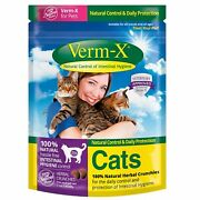 Verm-x Herbal Crunchies For Cats - 24 X 120 Gm Pouch [vmx0005]