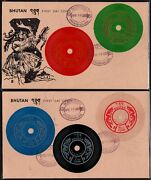 Bhutan Records Talking Stamps Set Of 7 On Fdc As Per Scan.
