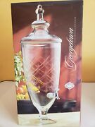 Shannon Crystal Glass 1.8 Gallon Beverage Dispenser Hand Made Cut Glass-free Shi