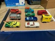Lesney Matchbox Lot Mustang, Iso, Land Rover, Horse Trailer And More