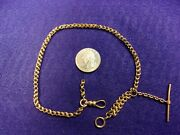 2 Of 2 Very Old Vtg Antique 14k Rose Gold Victorian Era Pocket Watch Fob Chain