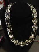 Pv Paola Valentini Italy Icy Quartz Sterling Silver 925 Statement Necklace