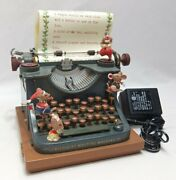 1990 Enesco Small World Of Music Musical Typewriter All We Want For Christmas