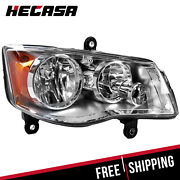 Right Side Headlight For 08-16 Chrysler Town And Country 11-17 Dodge Grand Caravan