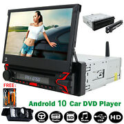 32gb Android 10.0 Car Stereo Radio Dvd Single 1 Din 7and039and039 Hd Flip Up Screen Gps
