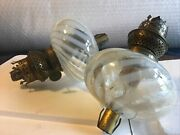 Powell Vaseline Glass Oil Lamp Font X Pair Of Rare Fonts On Salessafety Burners