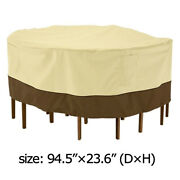 94 Patio Set Cover Table Andchair Waterproof Outdoor Garden Furniture Round Large