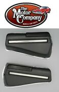 1968 Chevelle Rear Armrest Bases Complete Also Includes Chrome Backing Plates