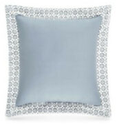 Piper And Wright Ansonia Sq Decor Pillow Soft Blue Croquet Ivory Overlay 16andrdquo New