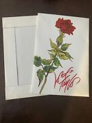 Vintage Lord And Taylor Department Store Red Rose Medium 14x9.5x2 Gift Box