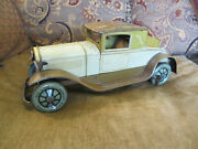 Vintage Circa 1930 15and039and039 L Karl Bub Kb Toys Germany Tin Wind Up Coupe Toy Car