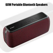 60w Portable Bluetooth Speakers Bass With Subwoofer Wireless Ipx5 Waterproof Tws