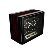 Watch Winder - 6 Piece Luxury Finishing With Led Light And Remote Control