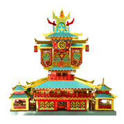 3d Metal Puzzle The Red Welkin Palace Building Assemble Model Kits Laser Cut