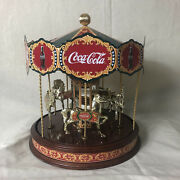"""Coca Cola Musical Carousel By The Franklin Mint 1997 Working Condition 11"""" Tall"""