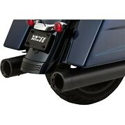 Vance And Hines 46654 Black 4.5 Oversized 450 Slip-on Mufflers For 17-20 Touring