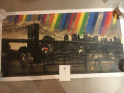 Roamcouch Brooklyn Bridge - Sepia Signed Perfect Cond Banksy Style Rare Ltd Edt