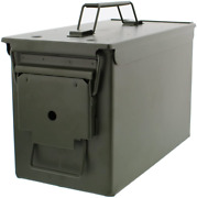 Redneck Convent Metal Ammo Case Can Andndash Military And Army Solid Steel Holder Box