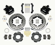Wilwood Combination Parking Brake Rear Kit 11.00in Drilled For 2012 Fiat 500 W/
