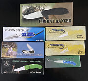 Lot Of 7 New Old Stock Frost Cutlery Pocket Knives Tactical Camping