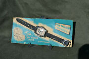 Vintage 1950s Davy Crockett Character Toy Watch, Still Attached To Original Card
