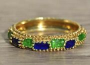 Band With Blue And Green Enamel