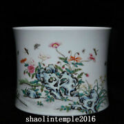 7.8 China The Qing Dynasty Pastel Flower Dish Pattern Pen Container