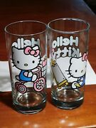 Hello Kitty 2 Tumblers 2013 Sanrio Icup Drinking Glasses Tricycle Artist Trike
