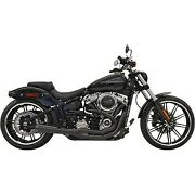 Bassani Black Road Rage Gen Ii 2-into-1 Exhaust System 18-20 Breakout And Fat Boy